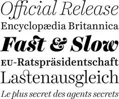 The Harriet Series by Okay Type: Einflüsse von Baskerville über die Scotch Roman bis hin zu den »modernen« anglo-amerikanischen Spitzfeder-Schriften des frühen 20. Jahrhunderts sind zu spüren, ohne jedoch den eigenen Charakter aus den Augen zu verlieren. Ein breites Spektrum an Strichstärken steht zur Verfügung, sowohl für den Display-Einsatz als auch mit reduziertem Kontrast für den Mengentext. via #typefacts + + + Beliebte Schriften: http://www.fontshop.com/fonts/popular.php