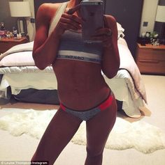 'Off to the gym to blast off last nights pizza AND pasta': Louise Thompson showcased her s...