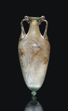 Ancient Rome, Ancient History, Glass Vessel, Glass Art, Art Romain, Antique Glassware, Roman Art, Ancient Artifacts, Ancient Civilizations