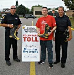 Firefighter boot drive in support of Muscular Dystrophy Canada @Muscular Dystrophy Canada