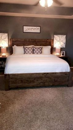 Modern farmhouse style combines the traditional with the new makes any space super cozy. Discover best rustic farmhouse bedroom decor ideas and design tips. Budget Bedroom, Home Decor Bedroom, Home Bedroom, Bedroom Ideas, Bedroom Carpet, Farmhouse Master Bedroom, Master Bedroom Design, Bedroom Rustic, Master Bedrooms