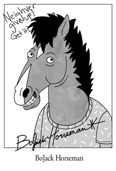 Enter the stable of BoJack Horseman's acting website. Star of sitcom, Horsin' Around, and an upcoming show on Netflix, BoJack still has time for his fans after all these years. Movies And Series, Bojack Horseman, Cartoon Tv, Cultura Pop, Animation Series, Show Horses, Pop Culture, Art Drawings, Poster