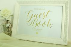 Personalised 'Please Sign Our Guest Book' by confettisweethearts