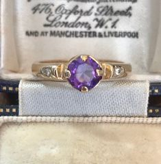 Antique Gold Rings, Antique Rings For Sale, Vintage Rings, Antique Jewelry, Vintage Jewelry, Gold Jewelry For Sale, Purple Jewelry, Amethyst Jewelry, Amethyst Rings