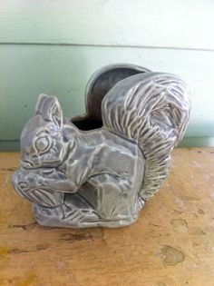 Squirrel Planter...for my niece, Morgan!