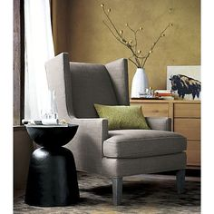 Luxe Wing Chair  | Crate and Barrel