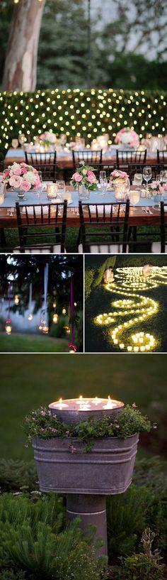 Velas para decorar tu boda � una velada rom�ntica inolvidable