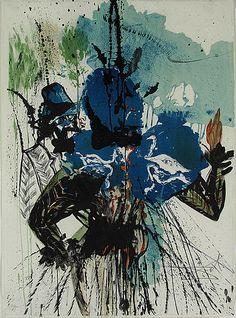 Salvador Dali, L'Homme et la Fleur