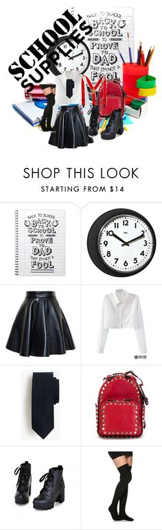 """""""Back To Scool"""" by dstyler ❤ liked on Polyvore featuring Universal Lighting and Decor, MSGM, Valentino and Colorful Shoes"""