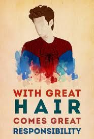 great hair || Andrew Garfield. Sadie and I know the power of the hair...:p