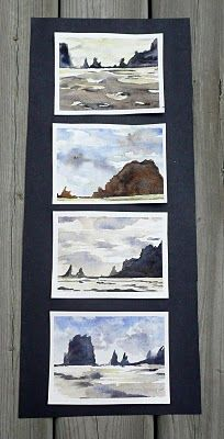 Horizon Line - Composition  Using a mat to capture 4 different perspectives of a landscape