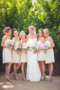 Bridesmaids color Style Me Pretty | Gallery | Picture |