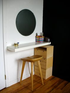 DIY vanity area.... i will have more colors and a spray painted frame!