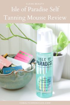 Isle of Paradise Self Tanning Mousse Review Non Toxic Makeup, Clean Makeup, Clean Beauty, Body Scrub, Body Lotion, Cobalt, Mousse, Moisturizer, Paradise
