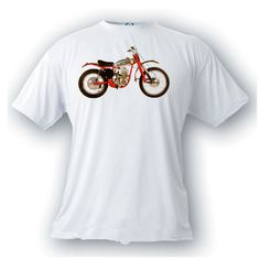 DOT 250 demon 1964 vintage image motorcycle t-shirt by artonstuffdesigns on Etsy