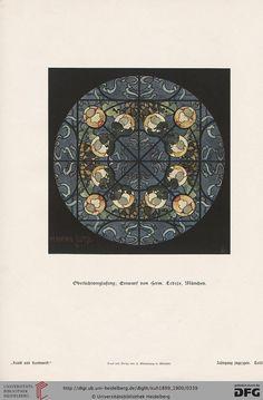 Bayerischer Kunstgewerbe-Verein (Bavarian Arts and Crafts), vintage art magazine, Vol 50, 1899-1900. Art nouveau.
