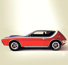 AMC Gremlin. This is what I learned to drive on, but mine was green. It had a V8 engine and a blind spot that was so big a semi truck could be next to you and you would not even see it. What could go wrong with a new 16 year old driver?