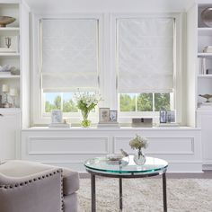 Shop for Damask Room Darkening Roman Shade. Get free delivery On EVERYTHING* Overstock - Your Online Home Decor Outlet Store! Privacy Shades, Shades Blinds, Room Darkening Shades, Cordless Roman Shades, Muebles Living, Bedroom Windows, Window Seats Bedroom, Blinds For Windows Living Rooms, Bay Windows