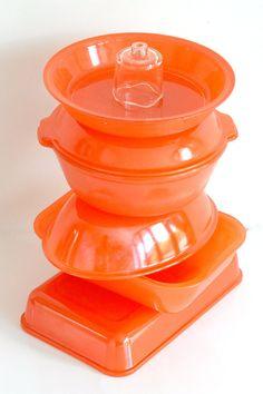 Crown Pyrex: complete seven-piece casserole/baking set (circa 1950s). $150.00, via Etsy.