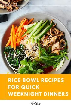 Hearty rice bowls are healthy quick and can be loaded with a range of different toppings. Here are 28 tasty (and most importantly fast) rice bowl ideas for weeknight dinners. #rice #bowl #recipes Quick Weeknight Dinners, Rice Bowls, Recipe Today, Healthy Dinner Recipes, Green Beans, Meal Prep, Tasty, Range, Meals