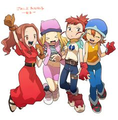Tags: Anime, Digimon, Digimon Adventures, Digimon Frontier, Orimoto Izumi, Four Girls, Digimon Tamers