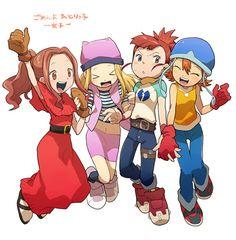 Tags: Anime, Digimon, Digimon Adventures, Digimon Frontier, Orimoto Izumi, Four Girls, Digimon Tamers