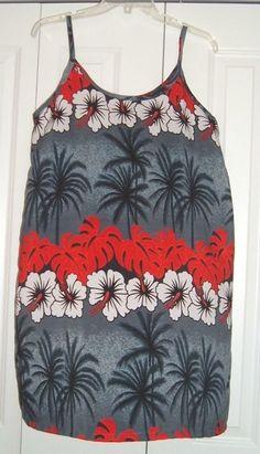 HAWAIIAN BY BASIX ORIGINAL Coverup Beach Sundress Summer  Shift/Dress M #HAWAIIANBYBASIXORIGINAL #Sundress #SummerBeach