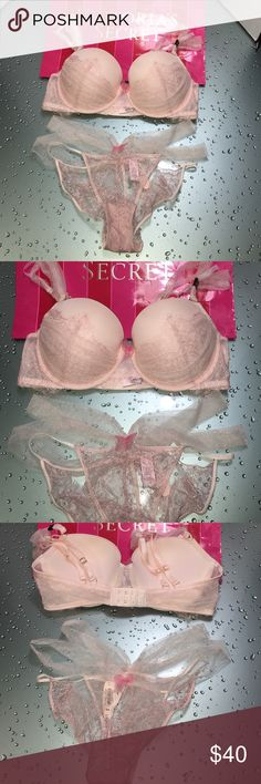 Amazing 36D set VS NWT ✨✨✨✨✨❤️follow me @gill89 Bundle Victoria Secret set Size 36D Dream Angels Balconnet  Bottom size M Colors:   New with tag✨✨Final sale ( No exchange No returns •No Stain•  •no ripped• •100% authentic• •pet free• •Smoke free• •all items are new with tags• •Final sale ( No exchange No returns)• Victoria's Secret Intimates & Sleepwear Bras