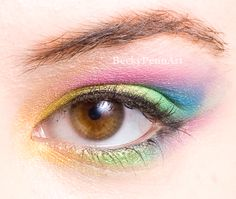 We love this soft pastel rainbow for spring.