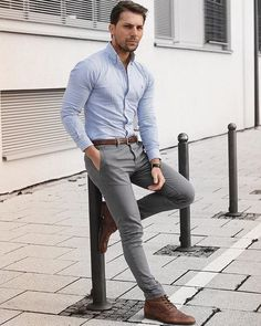 Men& Style Inspiration, Casual Work Outfit To Copy Now 19 - Mens outfits - # Summer Business Attire, Business Casual Men, Business Outfits, Big Men Fashion, Fashion Mode, Mens Fashion Suits, Mens Smart Casual Fashion, Paris Fashion, Mens Office Fashion