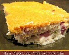 Ham, Cheese, and Cauliflower Au Gratin