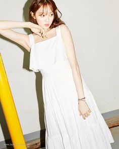 Lee Sung Kyung - Lap 2016 Summer Collection Pics [Part Kim Bok Joo Lee Sung Kyung, Lee Sung Kyung Style, Lee Sung Kyung Fashion, Weighlifting Fairy Kim Bok Joo, Korean Actresses, Korea Fashion, Korean Model, Kpop, Party Wear Dresses