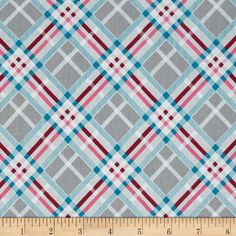 Designed by Amy Barickman for RJR Fabrics, this cotton print fabric is perfect for quilting, apparel and home decor accents. Colors include shades of grey, shades of pink and teal.