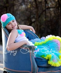 Oopsy Daisy Baby Turquoise Rainbow pettiskirt
