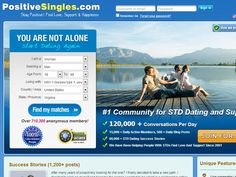 Positive Singles is our 1st choice from the 10 online STD dating sites that we have reviewed. It is best and the leading website for single people who live with Herpes, HPV, HIV or AIDS and are looking for love, friendship or companionship. This site provides the members with the best chance to meet up with other individuals who live with similar problems in a non-judgmental way