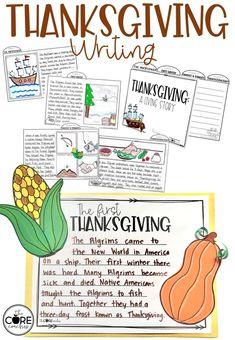 Students construct a written response to summarize what they have learned about Thanksgiving. Tab book or 1 page summary and craftivity.