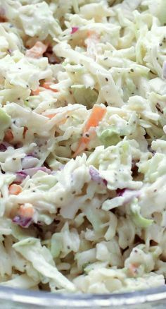 Classic Memphis-Style Coleslaw Have used this recipe and it's actually quite tasty (but I use fresh cabbage and shredded carrots)<br> ★★★★★ Cooking Recipes, Healthy Recipes, Easy Recipes, Summer Salads, Soup And Salad, Pasta Salad, Side Dish Recipes, The Best, Meals