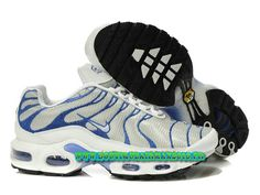 Nike Air Max Tn Requin/Tuned 2013 Chaussues Nike Basket Pour Homme Blanc/Bleu
