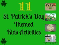 11 St. Patricks Day Themed Kids Activities {we enjoyed as a family}