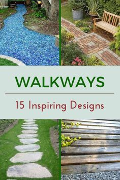 The internet has a treasure trove of walkway ideas no matter your style or budget. From paths to the front door to trails through the garden, here are 15 walkway designs to inspire your next outdoor project.