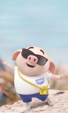 Happy Birthday Pig, Happy Pig, Pig Wallpaper, Cute Piglets, Cute Cartoon Images, Funny Pigs, Mini Pigs, Funny Emoji, Baby Pigs