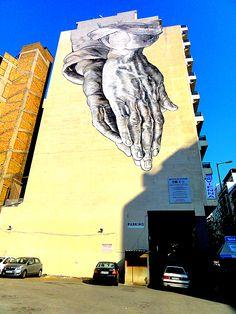 Prière pour les hommes de la Terre. / D'après Les Mains de Dürer. / Street art. / Athènes. / Grèce. / Greece.