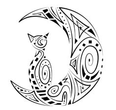 Maori Sun And Moon Tattoo Design photo - 3