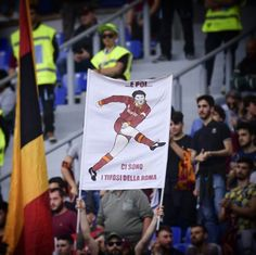 """#ForzaRoma ❤️ *** """"There are football fans ... and then there are #Roma fans"""" Agostino #DiBartolomei ❤️ *** Follow @officialasroma on Instagram *** #ASRoma #fans #curvasud #ago #photo #filter #picture #tifo #halloffame"""