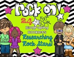 Rock Star Biography Research Booklets