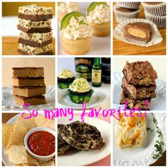 "Roundup of ""Best Recipes"" from browneyedbaker. Have to make the homemade PB cup still. But this blogger does ""REAL"" food too- not just baking :)"