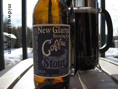 coffee stout new glarus wisconsin brew... want some now, please.