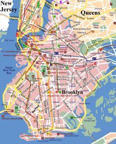 Brooklyn Attractions Map - brooklyn • mappery
