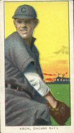 1909-11 The American Tobacco Company T206 White Border #266 Rube Kroh Front