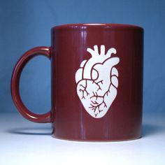 Cardiac nurse mug, very cool craftsmanship #nursing #etsy